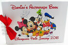 PERSONALISED DISNEY MICKEY MINNIE MOUSE PLUTO AUTOGRAPH BOOK DISNEYLAND/WORLD