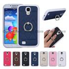 For Samsung Galaxy S4 i9500 SIV PU Leather TPU Case Cover Ring Stand Popular New
