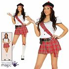 Ladies Sexy Tartan Schoolgirl Scot Scottish Burns Night Fancy Dress Kilt Costume