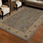 Gray Vines Circles Petals Buds Traditional-Persian/Oriental Area Rug Floral 3212