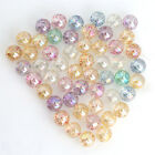 50pcs New Transparent Mixed Color Round Shiny Plastic Spacer Beads Findings D