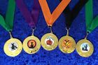 Halloween Party Event Medal on Ribbon, Pumpkin, Bats, Witch, Cat