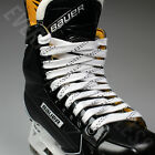 NEW Elite Pro X7 Molded Tip Wide Hockey Laces - White / Black