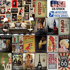 US SELLER Metal Tin Signs Decor Painting Wall Plaque Retro Tavern Style Vintage