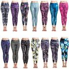 Women Printed Yoga Gym Sports Pants Stretch Fitness Leggings Athletic Clothes HQ