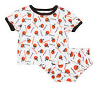 NFL Infant Cleveland Browns Top and Diaper Cover Set, White