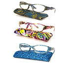 Transparent Colorful Bright Design Print Painting Art Reading Glasses Readers