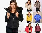 Ladies Womens Quilted Padded Puffer Parka Jacket Fur Hooded Warm Winter Coat