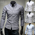 Mens New Luxury Slim Business Casual Dress Shirts Long Sleeve Formal Top W759