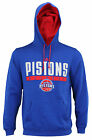 Adidas NBA Men's Detroit Pistons Tipoff Playbook Pullover Hoodie, Blue