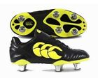 CANTERBURY STAMPEDE II CLUB 6-STUD - JUNIOR RUGBY BOOTS - E22250 989 - BLACK-NEW