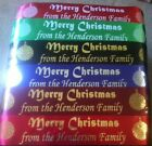 Personalised Christmas Banner Metallic Gold and Silver text available