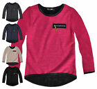 Girls Lightweight Plain Knitted Jumper New Kids Long Sleeved Top Ages 2-10 Yrs