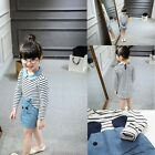 New Fashion Children Girl Casual Dress Long Sleeve O-neck Cotton Soft Skirts