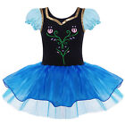 Girls Skate Gymnastic Cotton Ballet Leotard Dress Up Flower Short Sleeve