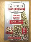 Jingles LED Compact Christmas Tree Lights in Ice White/Warm White/Multi-Coloured