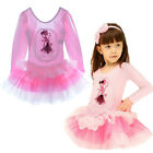 Girls Heart Party Suit Cotton Dancewer Fairy Print Lace Flower Long Sleeve