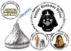 216 STAR WARS BIRTHDAY PARTY FAVORS HERSHEY KISS KISSES LABELS DARTH VADER etc