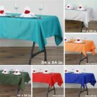 """6 pcs 54"""" SQUARE POLYESTER TABLECLOTH Wedding Party Catering Dinner Linens SALE"""