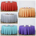 "120"" Round Polyester Tablecloth Wedding Table Linens Decoration Supplies"