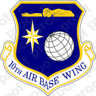 STICKER USAF 10TH AIR BASE WING