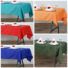 "6 pcs 54 x 54"" SQUARE POLYESTER Tablecloths Wedding Table Linens for Catering"