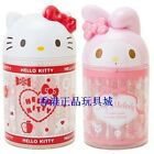 JAPAN SANRIO HELLO KITTY MY MELODY COTTON SWAB WITH HEAD SHAPE CONTAINER