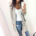 NEW Women's Autumn&Winter Fashion Loose Long-sleeved Knit Cardigan Soft Sweater