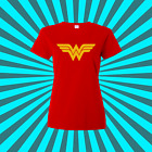 Wonder Woman T-Shirt - Graphic Retro Logo look.. .  Comic Con ..  Ships Fast !