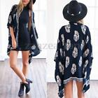 Zanzea Ladies Floral Hippie Cardigan Coat Blouse Kimono Cape Blazer Jacket Tops