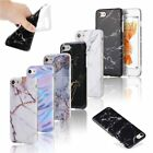 Ultra Slim Marble Pattern Rubber Soft TPU Case Cover for iPhone X/6/7/8 Plus