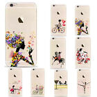 Fantacy Butterfly Girls Protector Clear Case Cover For iPhone 7 7 Plus 5 6s Plus
