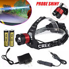 5000LM XM-L T6 LED Headlamp Head Light Zoom Torch +2 X 18650 Battery+Charger Lot