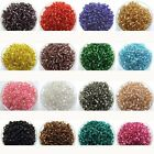 500Pcs Czech 32g 4mm Round Lot Colorful AB Glass Seed Beads DIY Jewelry Making