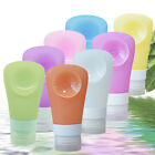 New Travel Packing Silicone Press Bottles Set Lotion Shampoo Bath Container