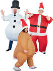 Christmas Inflatable Costume Mens Ladies Xmas Novelty Fancy Dress Outfit & Hat