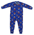 NHL Toddlers New York Islanders Full Zip Raglan Logo Print Coverall, Blue