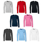 New GILDAN Womens Ladies Soft Style Cotton Long Sleeve T Shirt in 8 Colours S-XL
