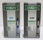 Внешний вид - DIXON American Marking Crayons Long Lasting Wax BLACK Or BLUE - PACK OF 12