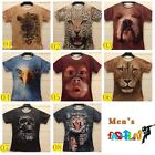 3D Animal Printed Monkey Lion Leopard Mens T-Shirt Tiger Fashion Tees Casual Top