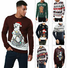 Threadbare Adults Designer LED Light Up 3D Christmas Jumpers Novelty Sweater Top