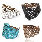1Pc Punk Cool Unisex Wide Hollow Out Leather Belt Bracelet Cuff Wristband Bangle