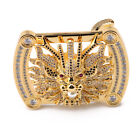 Chinese Dragon Pin Buckle Type Belt Buckle with Natural Zircon Best Gift for Men