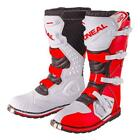 ONeal Motocross Stiefel Rider Boots  rot weiß Enduro MX Motorrad Offroad Cross