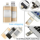 i Flash Drive USB Memory Stick Pen Drive U Disk 3 in 1 for Android/IOS iPhone PC