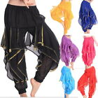 Hot Belly Dance Bloomers Pants Bollywood Stage Show Harem Pants with Sequin Bead