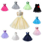 Little Baby Girls Sequin Dress Flower Baptism Formal Party Wedding Gown 6M-3Y
