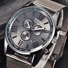 Luxury Men's Military Stainless Steel Date Analog Quartz Sports Wrist Watches UK