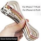 Ultra Thin Bumper Aluminum Metal Frame + Soft Silicone Case For iPhone 5/6/7/7+