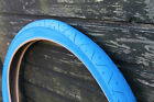 1 PAIR ( 2 TYRES ) SLICK MTB TYRES TIRES 26 x 2.10 ALL BLUE   LS077